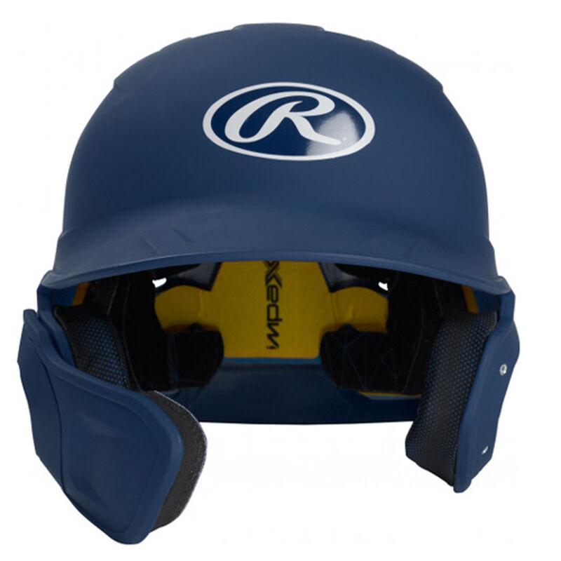 Junior MACH Matte Left-handed Batting Helmet, Navy, large image number 0
