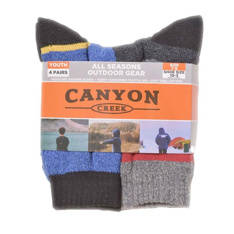 Boys' 4 Pack All Season Crew Socks, , large image number 0