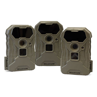 Wildview 12MP Stealth Trail Camera - 3-Pack