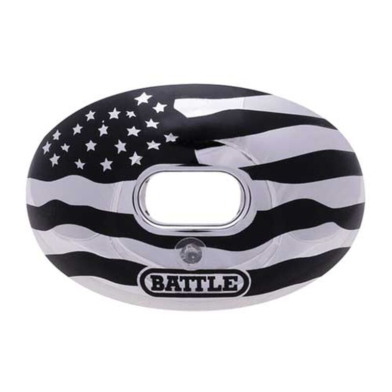 Chrome Graphic Mouth Guard, Black/Silver, large image number 0