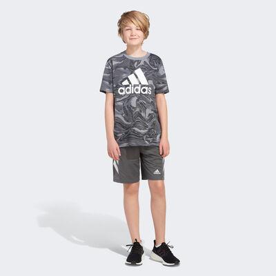 adidas Boys' Short Sleeve Warped Camo Allover Print Tee