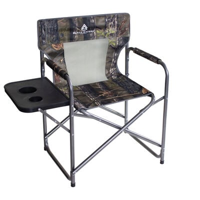 Black Sierra Director's Chair With Side Table And Cooler