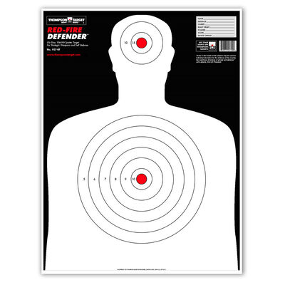"""Thompson Target XL Red-Fire Silhouette 19""""x25"""" Targets 5 pack"""