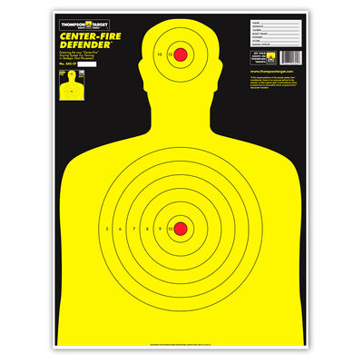 """Thompson Target XL Center-Fire Silhouette 19""""x25"""" Targets 5 pack"""