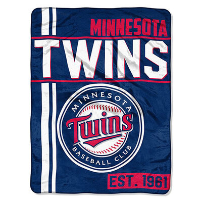 Northwest Co Minnesota Twins Micro Raschel Throw Blanket