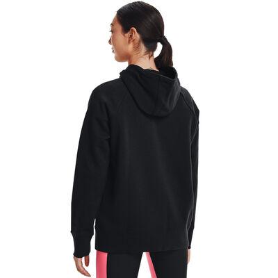 Women's Rival Fleece Big Logo Hoodie, Black, large