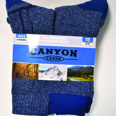 Men's 4 Pack All Season Denim Socks, , large