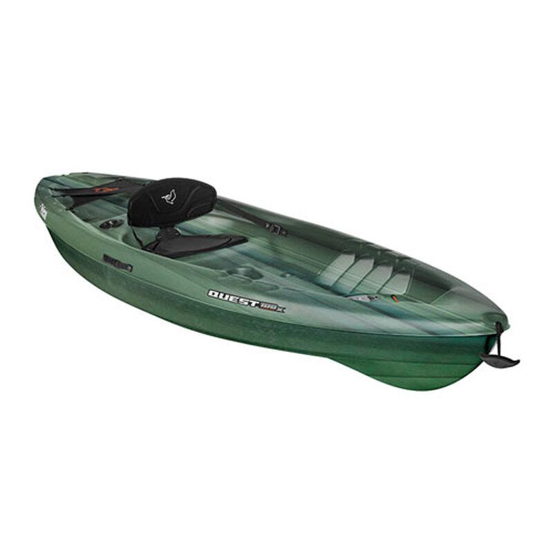 Quest 100x Angler Sit On Kayak, Black/Green, large image number 0
