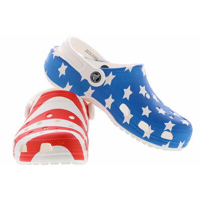 Men's Classic American Flag Clogs, , large