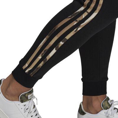 Men's Essentials Fleece Camo-Print Pants, Black, large