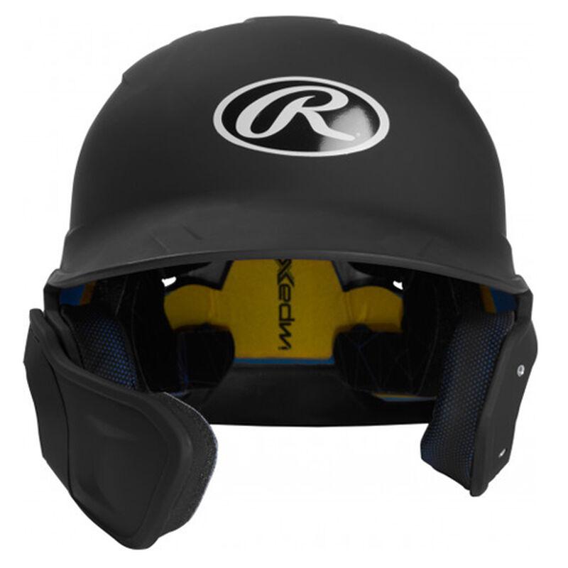 Senior MACH Matte Right-handed Batting Helmet, Black, large image number 0