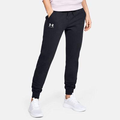 Women's Rival Fleece Sportstyle Graphic Pants, Black, large