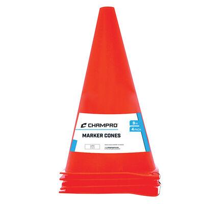 Champro 9' Plastic Marker Cone - 4 Pack