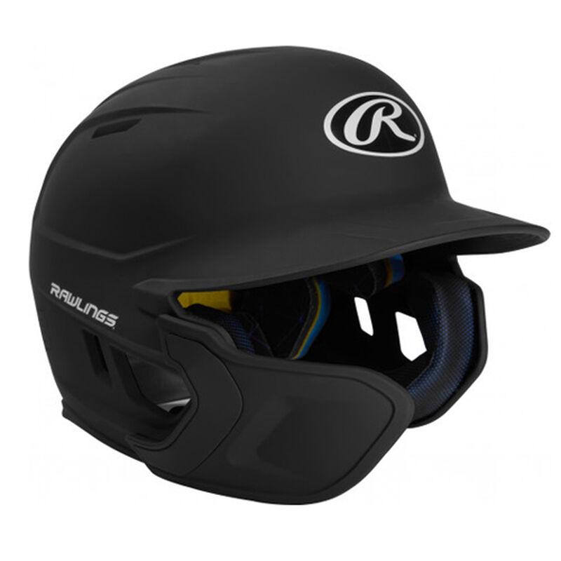 Junior MACH Matte Left-handed Batting Helmet, Black, large image number 0