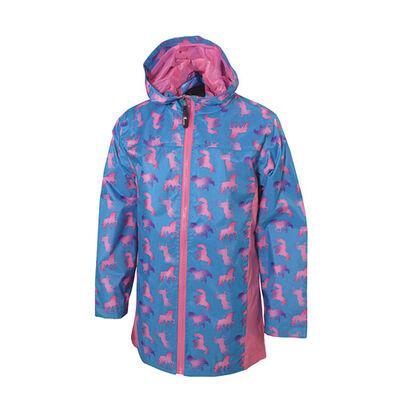 I5 Girls' Unicorn Ombre Rain Jacket