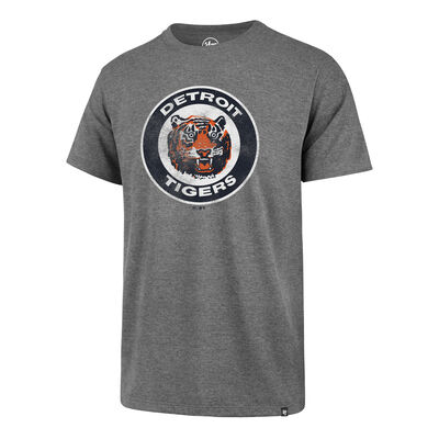 47 Brand Men's Detroit Tigers Cooperstown Slate Grey Throwback Club T-shirt