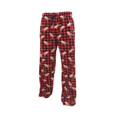 Men's Plaid Deer Print Lounge Pants, , large