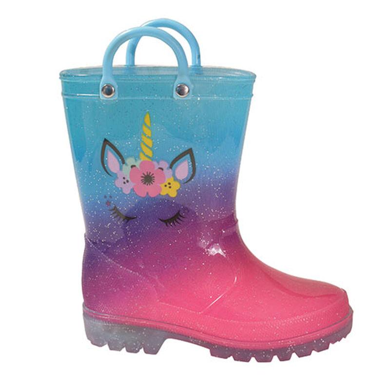 Girls' Toddler Unicorn Rainboots, , large image number 0