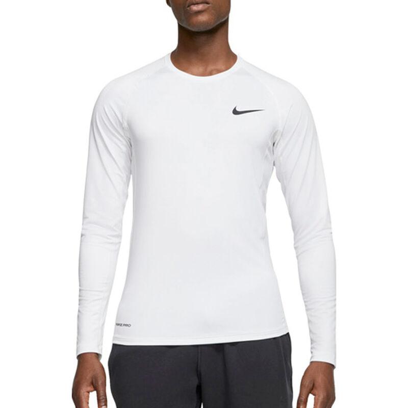 Men's Long Sleeve Slim Fit Top, White, large image number 1