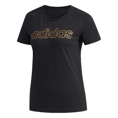 adidas Women's Essentials Branded Short Sleeve T-Shirt