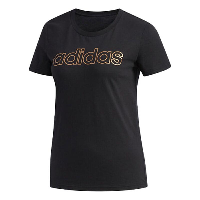 Women's Essentials Branded Short Sleeve T-Shirt, Black, large image number 0
