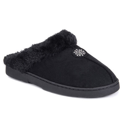 Muk Luks Women's Clog Slippers with Fur Lining