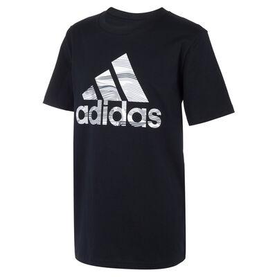 adidas Boys' Short Sleeve Camo Badge Of Sport Tee