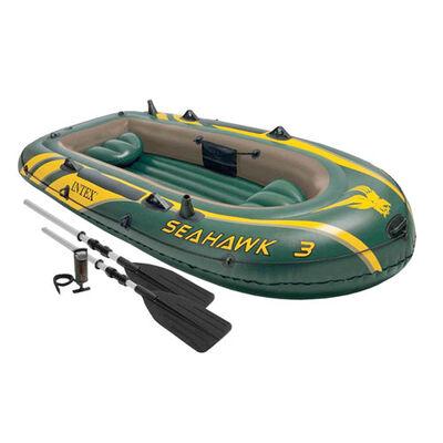 Intex Seahawk 3 Person Inflatable Boat Set