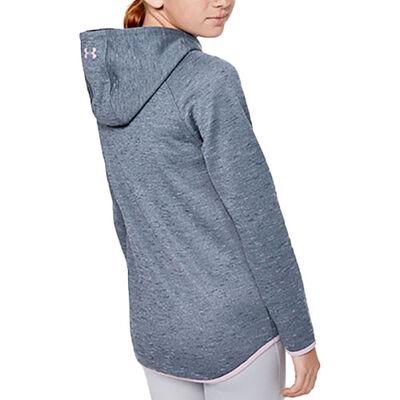 Girls' Armour Fleece Big Logo Twist Hoodie, Heather Gray, large