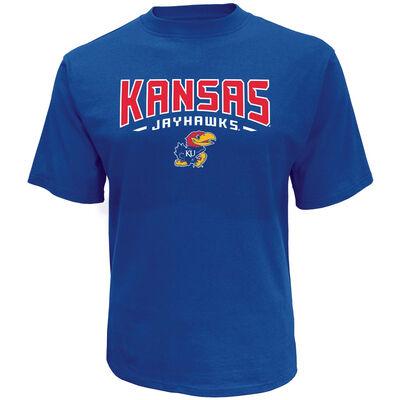 Knights Apparel Men's Short Sleeve Kansas Classic Arch Tee