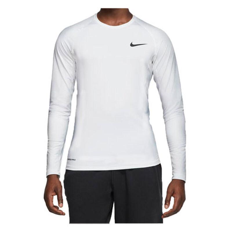 Men's Long Sleeve Slim Fit Top, White, large image number 0
