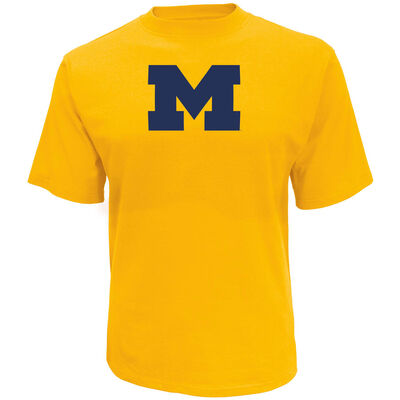 Knights Apparel Men's University of Michigan Oversized Logo Short Sleeve T-Shirt