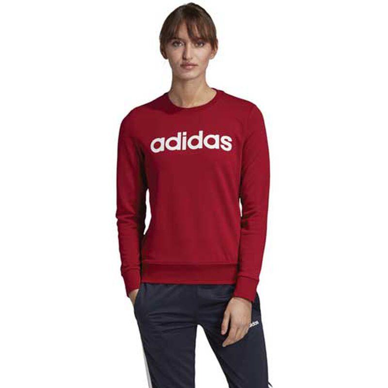 Women's Essentials Linear Training Sweatshirt, Dk Red,Wine,Ruby,Burgandy, large image number 0