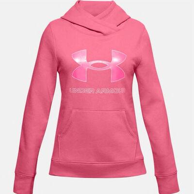 Under Armour Girls' Rival Fleece Logo Hooide