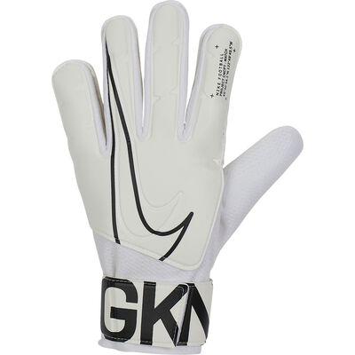 Goalkeeper Match Goalie Gloves, White/Black, large