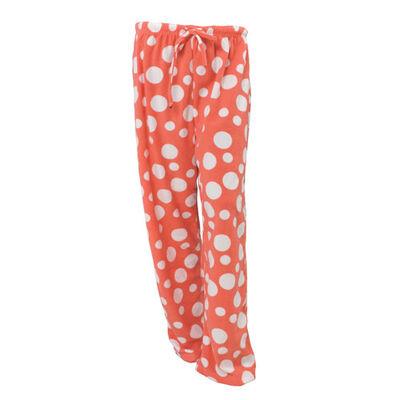 Canyon Creek Women's Coral Polka Dot Loungewear Pants