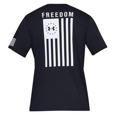 Men's Freedom Flag Tee, Black/White, large