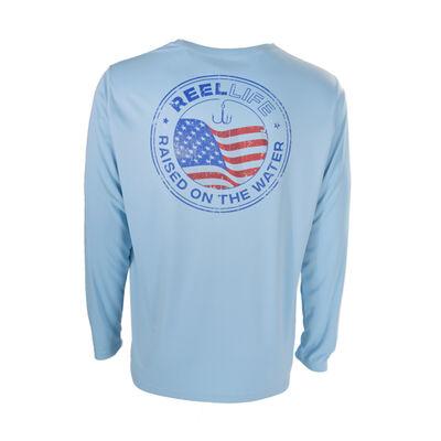 Men's Long Sleeve Americana Emblem Tee, , large
