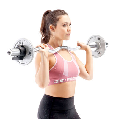 """Marcy 47"""" Olympic Curl Weight Bar"""