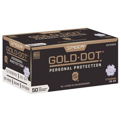 Federal 5.7x28mm Gold Dot 40GR Ammunition