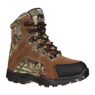 Rocky Boys' Camo Waterproof Insulated Outdoor Boots