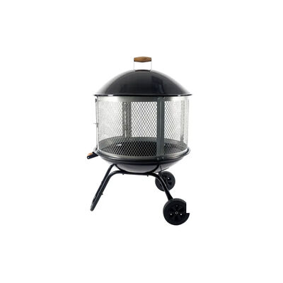 """Pleasant Hearth Beacon 28"""" Fire Pit with Wheels"""