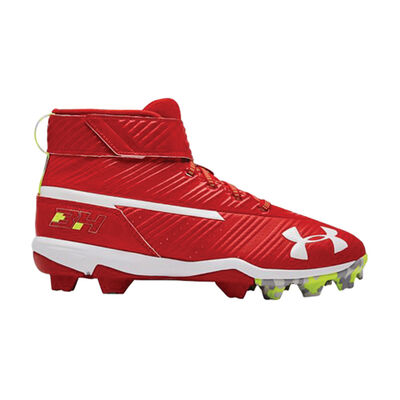 Under Armour Youth Harper 3 Mid Rubber Molded Baseball Cleats