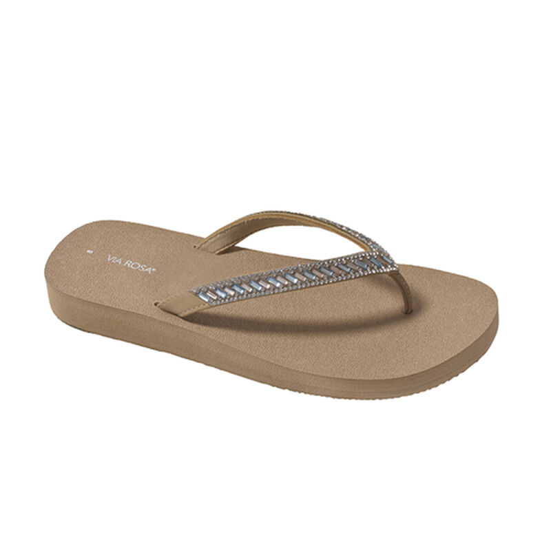 Women's Jeweled Flip Flops, , large image number 0