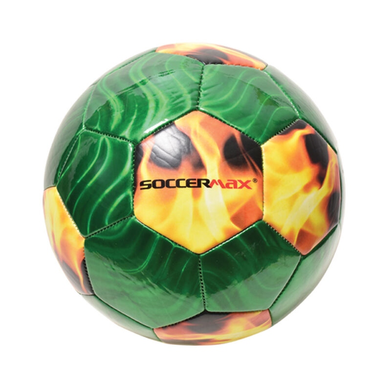 Flame Soccer Ball, Green/Yellow, large image number 0