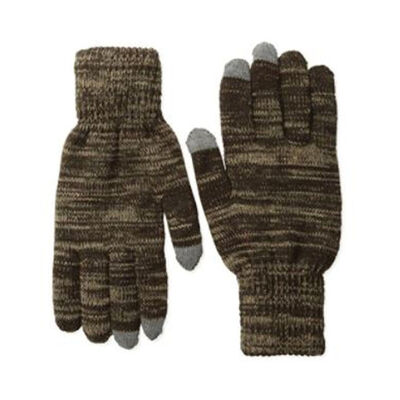 Quietwear Men's 2 Layer Knit Glove with Texting Fingers