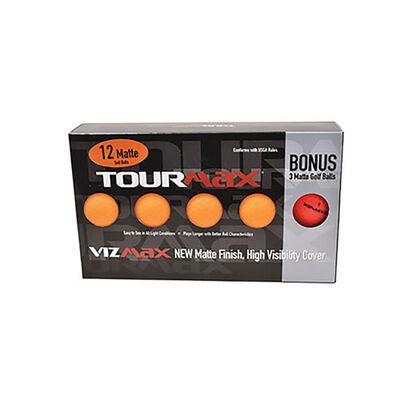 Tour Max Vizmax Orange Golf Balls with Bonus Sleeve - 12-Pack