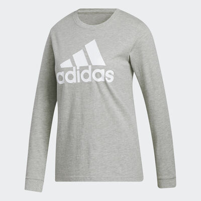 adidas Women's Long Sleeve Basic Logo Tee