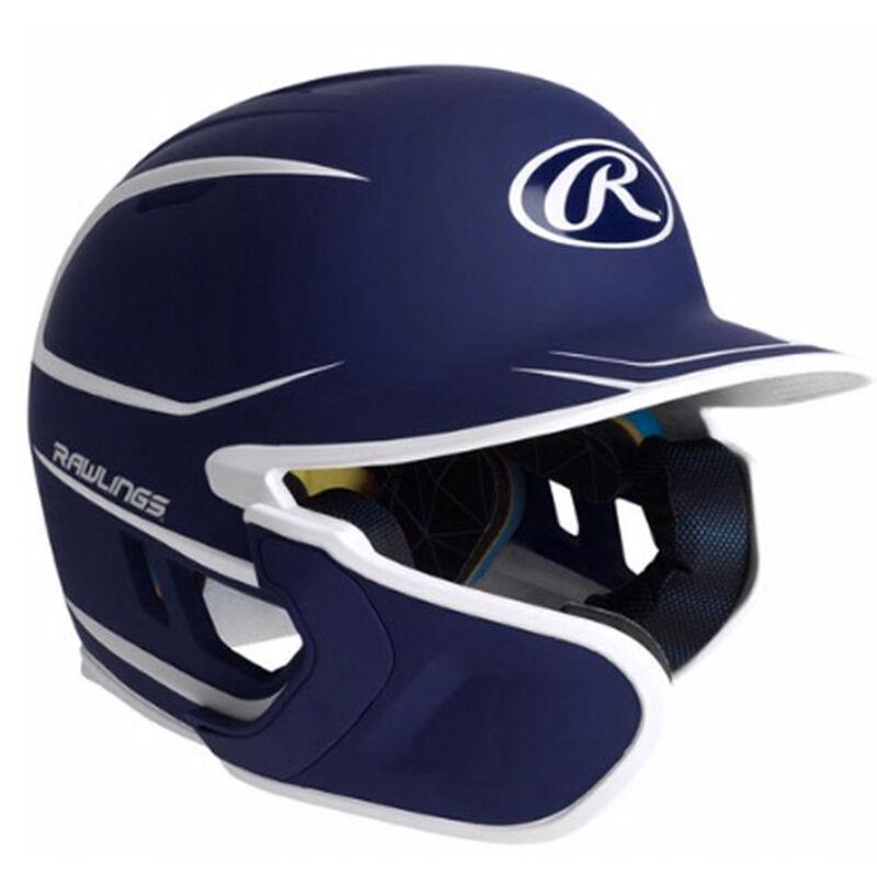 Junior MACH 2-Tone Matte Batting Helmet, Navy, large image number 0