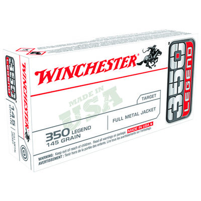 Winchester 350 Legend USA 145 Grain FMJ Ammunition